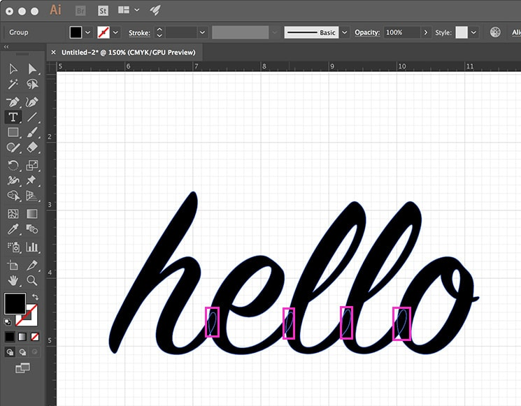 Create SVG Illustrator - Text Outlines 02